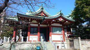 木場洲﨑神社 社殿全景