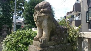下丸子六所神社 狛犬 (2)
