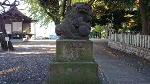 小山八幡神社 西参道狛犬 (1)