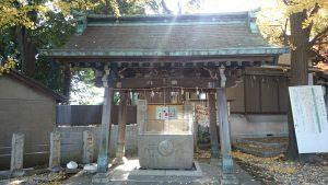 小山八幡神社 手水舎