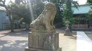 下丸子六所神社 狛犬 (1)
