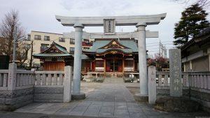 西之宮稲荷神社 鳥居と社号標