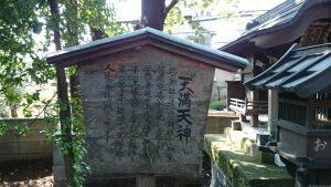 久我山稲荷神社 天満天神社由緒書き