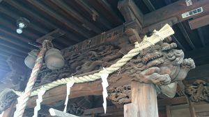 寄木神社 拝殿彫刻
