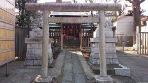 滝野川八幡神社 境内社合祀殿 鳥居