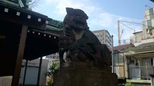 寄木神社 石造狛犬 (2)