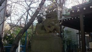 寄木神社 石造狛犬 (1)