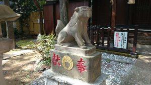 多武峯内藤神社 寛政5年狛犬 (1)