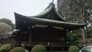 喜多見氷川神社 神楽殿
