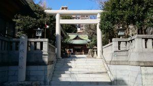 大塚天祖神社 鳥居と社号標