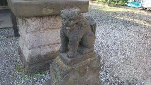寄木神社 かっぱ狛犬 (2)