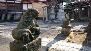 滝野川八幡神社 北側参道 狛犬