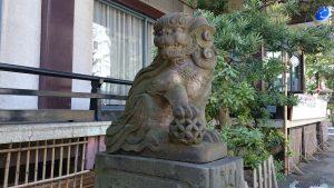 大塚天祖神社 子育て狛犬 (1)