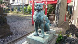 寄木神社 青銅狛犬 (2)