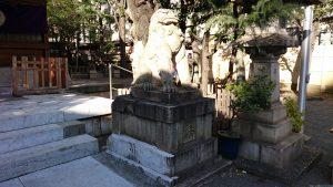 大塚天祖神社 拝殿前狛犬 阿