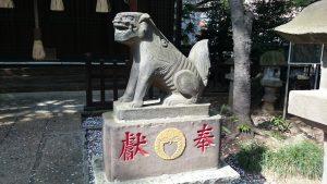 多武峯内藤神社 寛政5年狛犬 (2)