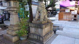 大塚天祖神社 拝殿前狛犬 吽