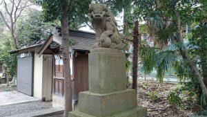 伊豆美神社 狛犬 (2)