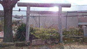 小日向神社 旧鳥居