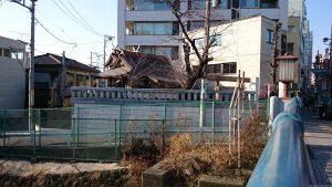 大國神社 駒込橋からの全景