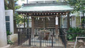 月見岡八幡神社 手水舎