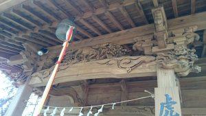 調布市虎狛神社 拝殿彫刻