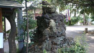 中井御霊神社 参道狛犬 (1)
