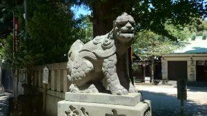 駒込天祖神社 狛犬 (1)