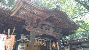 調神社 拝殿彫刻