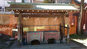 駒込富士神社 手水舎
