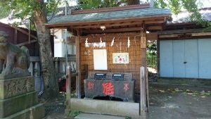 駒込天祖神社 手水舎