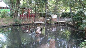 調神社 瓢箪池