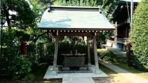 徳丸北野神社 手水舎 (2)