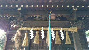 四葉稲荷神社 向拝部彫刻
