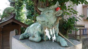 徳丸北野神社 撫で牛