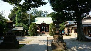 徳丸北野神社 参道から社殿