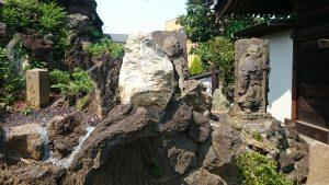 北町浅間神社 烏帽子岩