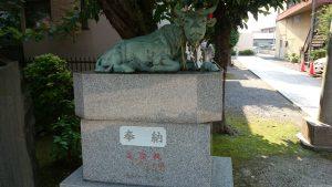 徳丸北野神社 撫で牛 (2)