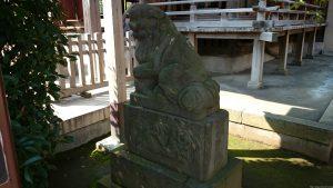 徳丸北野神社 狛犬 (2)