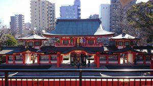 千葉神社 北斗殿 からの景観 (1)