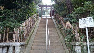 田園調布八幡神社 参道石段