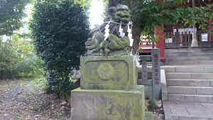 道々橋八幡神社 狛犬 (1)