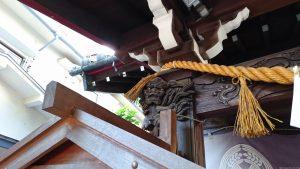 腰掛稲荷神社 拝殿彫刻 (1)