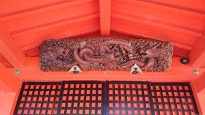 九頭龍神社本宮 向拝部彫刻