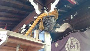 腰掛稲荷神社 拝殿彫刻 (2)