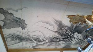 太田神社 神輿庫天井絵 (2)