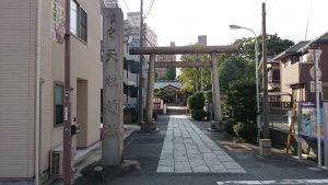 天祖諏訪神社 鳥居と社号標