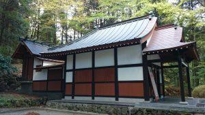 箱根芦川・駒形神社 社殿全景