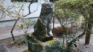箱根芦川・駒形神社 狛犬 (1)