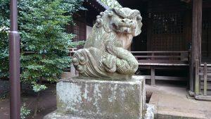 経堂天祖神社 拝殿前狛犬 (1)